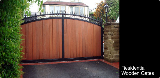 Automated Residential Wooden Gates