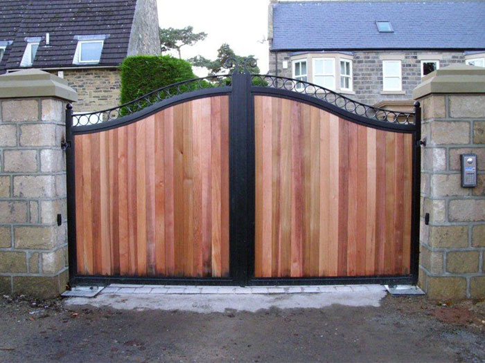 Automated Residential Metal And Wooden Gates