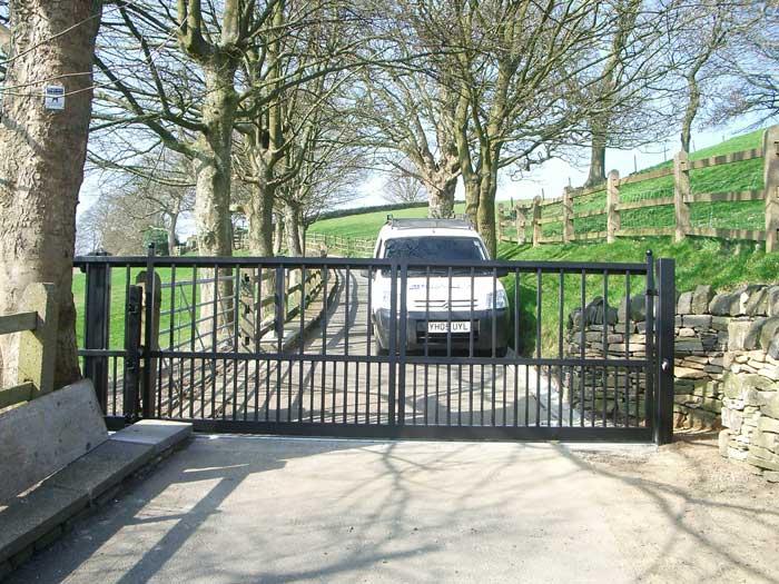 Wooden Sliding Gate